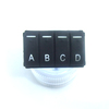 OEM customized push silicone cover button