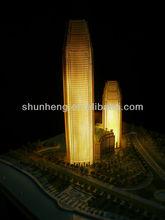 High rise building model for Dubai market with lighting