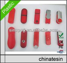 High Quality Red USB Memory , Plastic USB Flash Drive