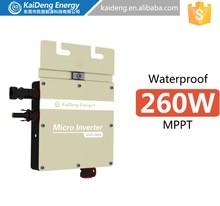 KD-WVC260A 2014 hot sale 260w grid on solar micro inverter for solar system 10kw 100kw 200kw