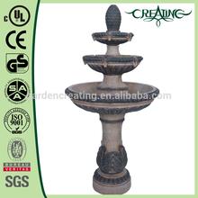 """40"""" Kenroy Rialto 3-Tier Floor Standing Garden Outdoor Water Fountain"""