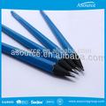 personalizado pintura azul lápis preto de madeira