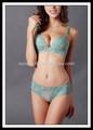 Senhoras impressão flor 70b 75b 80b 85b push-up underwear mulheres um pedaço do sutiã e calcinha
