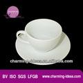 taza de porcelana y un plato de diseño de moda para el hotel