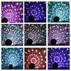 6 Colors 6x3W led magic crystal ball animated disco lights gif