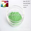 de cerámica de pigmentos de color verde pavo real para la pintura