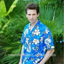 short sleeve print hawaiian shirt or camisa
