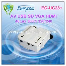 Hottest!!!UC28+ mini professional Mini video projector