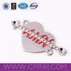 Decorative custom zinc alloy label metal clothing labels accessory for garment