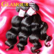 Free shipping Double weft shedding free popular brazilian human hair