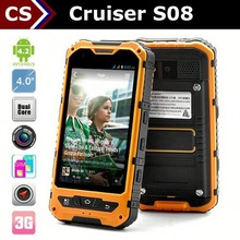 Cheap Rugged NFC Phone Cruiser S08 Android 4.2 Dual Core GPS GSM 3G waterproofed