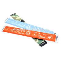 nice design neoprene cloth backing fabric slap bracelet