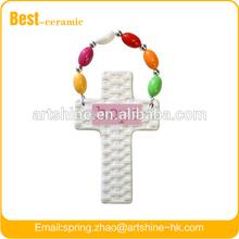 Fashion ceramic cross with beads hope faith
