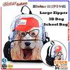 BBP106S 2014 3D zoo animal kids school bag kid bag child school bag