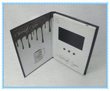 A4 format 7 inch tft/lcd screen greeting cards with video