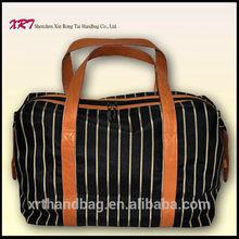 Nylon Clear Tote Bag Men Handbag with Geniune Leather Handle