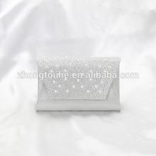 fashion ladies fabric imitation pearl evening bags