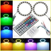 2pcs LED RGB smd5050 LED Angel Eye Headlight 12V Car Part LED RGB Halo