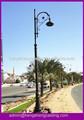 decorativa 5m altura arab ferro fundido rua poste de luz