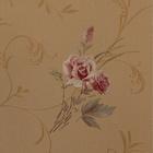 home decoration design waterproof natural country rose flower vinyl wallpaper