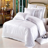 100% cotton hotel satin stripe bedding fabric satin stripe fabric white stripe bed sheet fabric