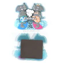 exquisite popular colorful rubber cute elephant souvenir fridge magnet