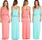 Sexy Bodycon Sleeveless Maxi Dress New Designs / V Neck Casual Maxi Dress / Hot Sale Dress Design Women Fashion Clothes