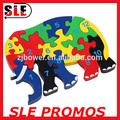 الفيل لعبة خشبية تعليمية خشبية لعبة اللغز لغز مكعب