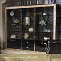 Meilleure vente de cristal 2014 d'armoires de cuisine, solide armoire en bois jh14 armoire à vin de la chine fournisseur- jl& c meubles