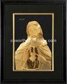 3d molduras jesus cristo deus indiano dom/presente religioso- antigo folha de ouro moldura de espelho de parede aceite misto de atacado
