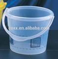3l plástico balde de água/balde com tampa