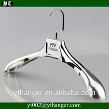 FP-658 Silver chrome plastic coat hanger