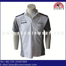 short sleeve new stylish men 100% cotton polo shirts with pockets