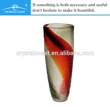 promotion stock simple and elegant large antique mosaic glass flower vase bases for flower arrangements