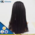 buen precio calidad premium 5 un grado peruana chica de pelo micro trenzado pelucas delanteras del cordón negro para las mujeres