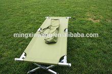 Super Light Folding Camp Camping Bed 195cm(L) X 68cm(W) X 42cm(H) Aluminium Frame Steel Legs with Compact Caririer Bag