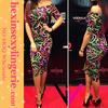 Fishion rainbow 2014 multi color bandage dress