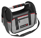 """OT-006 14"""" 600D polyester steel handle tool tote bag with shoulder strap"""