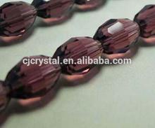 Vintage Bohemian Czech necklace choker oval faceted tin cut glass beads