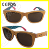 2014 Newest OEM Skateboard Wood Sunglasses with polarized lens