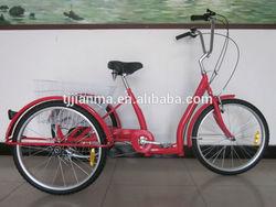 "24"" steel frame adult tricycle/trike three wheel bicycle bike china supplier"