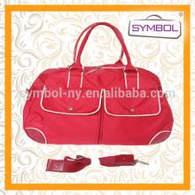 fashion trolley foldable leather travel bag