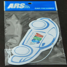 OEM LOGO custom bus shape hanging paper car air freshener