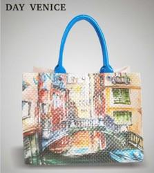 2014 new design idea plastic woven beach bags