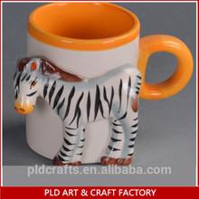 3D relief handpaint ceramic animal mug