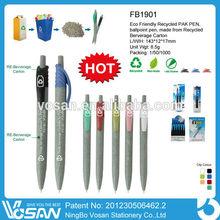 Eco Friendly Recycled Pak Ballpoint Pen Bottle Pen Ballpoint Pen