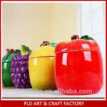 ceramic strawberry custom decor fruit salt and pepper shaker