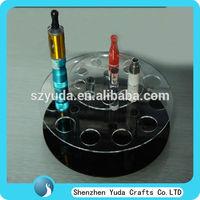 Rotating multifunctional acrylic ego battery stand,atomizer display,custom e-cig display case