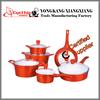 11pcs aluminum pans with 16cm covered saucepan /20/24/28cm covered casserole/28cm covered deep fry pan/26cm open fry pan