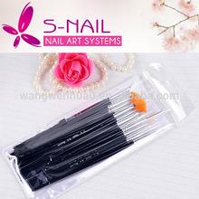 2014 newest nail brush pen , kolinsky nail art brush , 15pcs professional nail brushes set